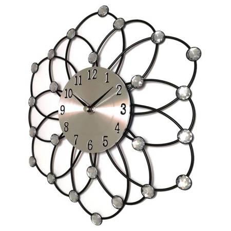 Zegar JVD ścienny kryształy stal 30 cm AL1229