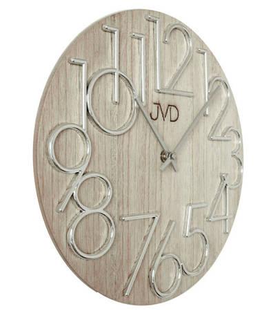 Zegar JVD ścienny nowoczesny DREWNO 30 cm HT99.2