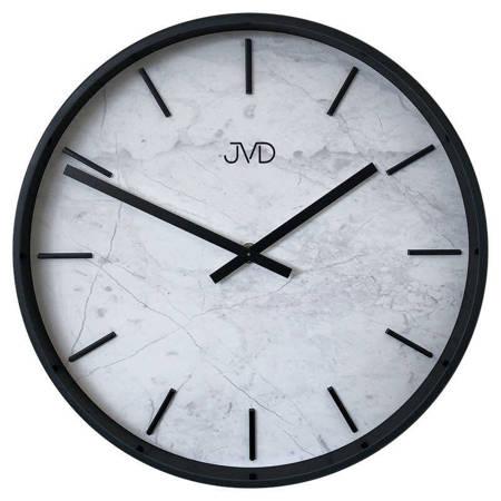 Zegar JVD ścienny nowoczesny MARMUR szary HC23.2