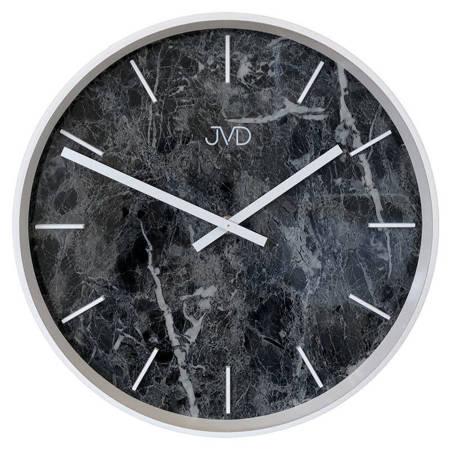 Zegar JVD ścienny nowoczesny czarny marmur HC23.1
