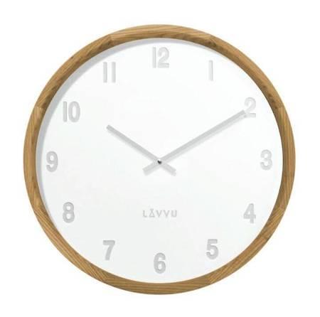 Zegar LAVVU ścienny drewniany 35 cm LCT4060