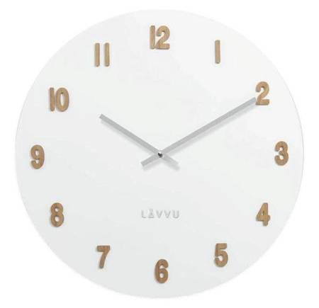 Zegar LAVVU ścienny płyta MDF biały 50 cm LCT4070
