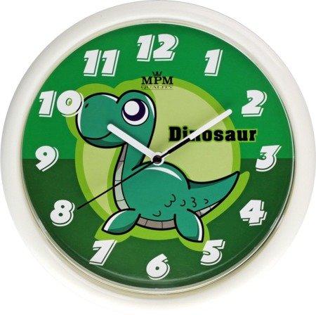 Zegar MPM dziecięcy 24,5 cm DINOZAUR zielony E01.3088.0040