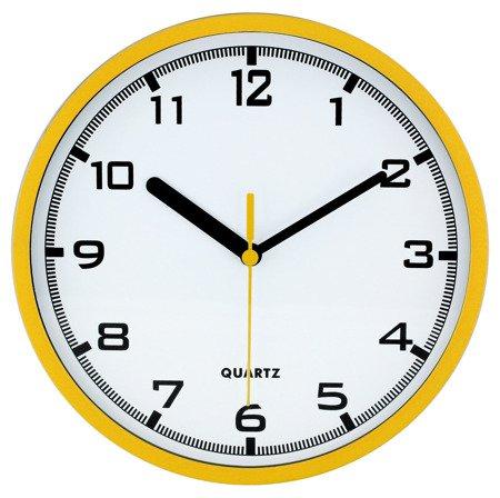 Zegar MPM ścienny 20 cm ŻÓŁTY nowoczesny czytelny E01.2477.10