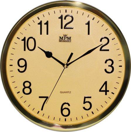Zegar MPM ścienny 31,5 cm złoty czytelny E01.3169.80