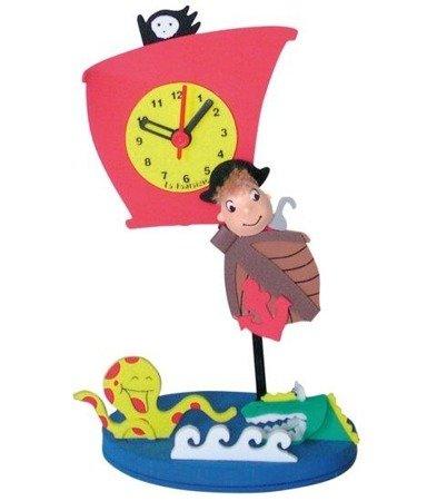 Zegar dziecięcy pirat pianka LC971