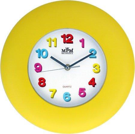Zegar dziecięcy żółty efektowny czytelny E01.2809.10