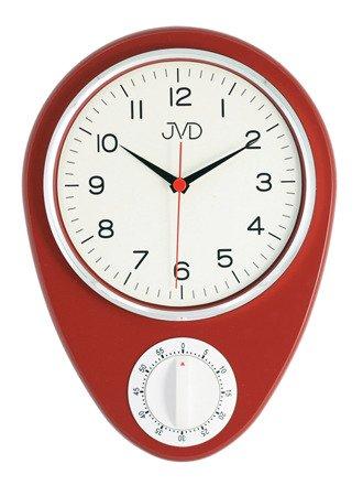 Zegar kuchenny JVD z MINUTNIKIEM ścienny klasyczny HO365.1