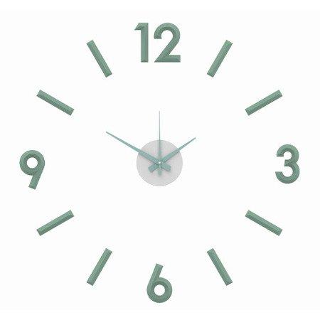 Zegar naklejany miętow CAŁE CYFRY 60cm E01.3771.40
