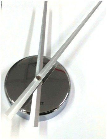 Zegar naklejany srebrny CAŁE CYFRY 80 cm HB13.1