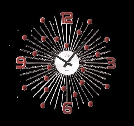 Zegar ścienny DESIGNERSKI JVD kryształy stal duży  HT074.3