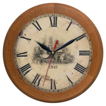 Zegar ścienny DREWNIANY retro dąb ATW301DL CD SW