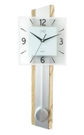 Zegar ścienny DREWNO szkło DUŻY wahadło NS19030.1