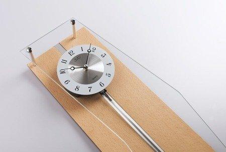 Zegar ścienny JVD Z WAHADŁEM szkło drewno N12002.68
