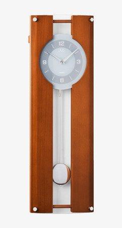 Zegar ścienny JVD Z WAHADŁEM szkło drewno N12010.41