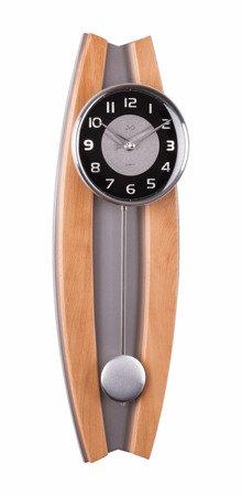 Zegar ścienny JVD Z WAHADŁEM szkło drewno N13003.68