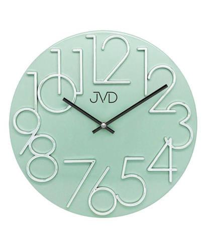 Zegar ścienny JVD nowoczesny METAL zielony HT23.6