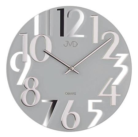 Zegar ścienny JVD nowoczesny szkło 29 cm HT101.3