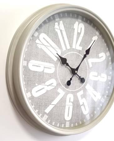 Zegar ścienny LOFT retro szary 43 cm SN54483G