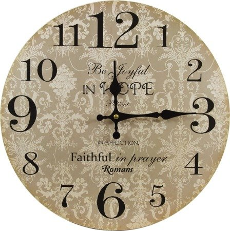 Zegar ścienny MDF retro EFEKTOWNY 34 cm 105639