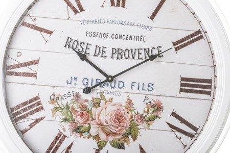 Zegar ścienny METALOWY róże DUŻY 62 cm retro 80545