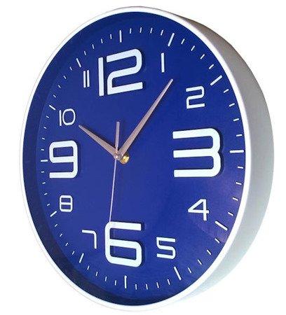 Zegar ścienny aluminium nowoczesny  ATE3436BL