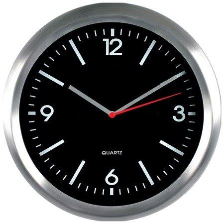 Zegar ścienny aluminium nowoczesny czytelny E01.2484.7090