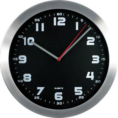 Zegar ścienny aluminium nowoczesny czytelny MP E01.2482.7090