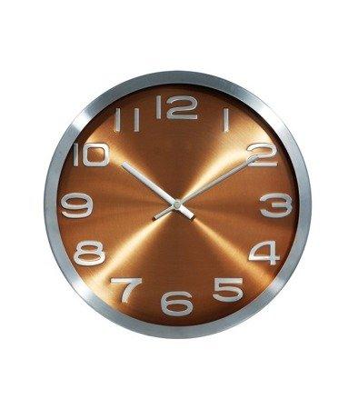 Zegar ścienny aluminium nowoczesny elegancki średni 9228 Silver