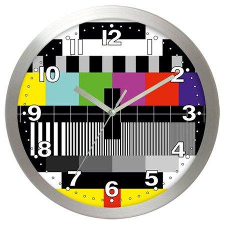 Zegar ścienny aluminium telewizyjny średni AL02SK