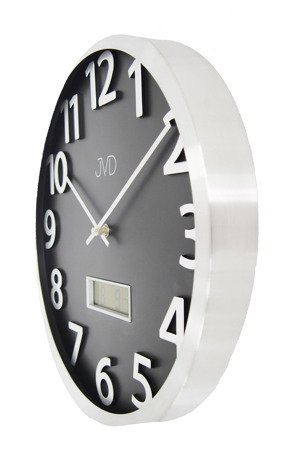 Zegar ścienny aluminium termometr datownik HO047.1