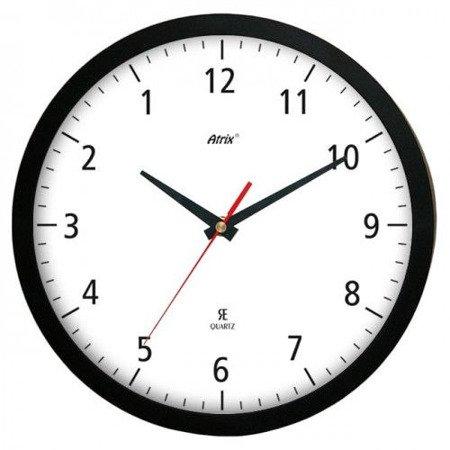 Zegar ścienny chodzący do tyłu czarny ACE2013AZ BK