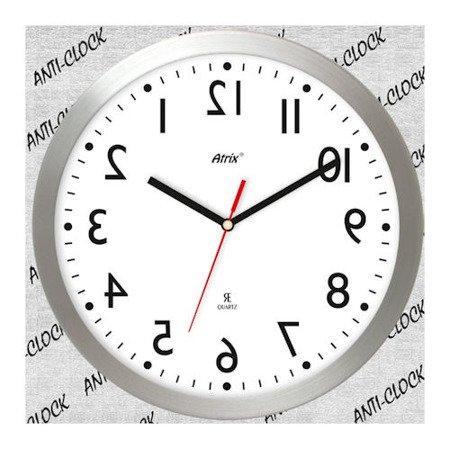 Zegar ścienny chodzący do tyłu lustrzany AL2412AC LU