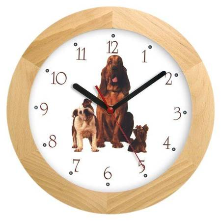 Zegar ścienny dla dzieci PIESKI ATW300H2 JES SW