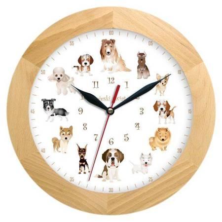 Zegar ścienny dla dzieci PIESKI ATW300P2 JES SW