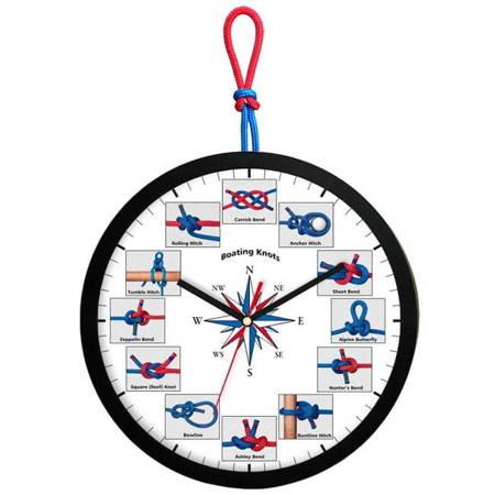 Zegar ścienny dla dzieci żeglarski ATE2013WZ BL SW