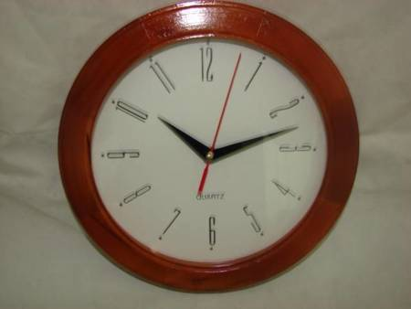 Zegar ścienny drewniany brązowy 25 cm 231