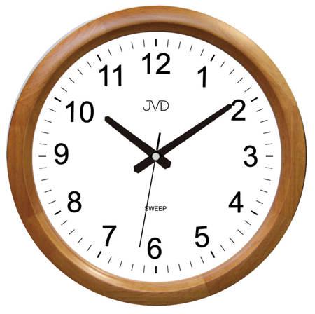 Zegar ścienny drewniany brązowy klasyczny NS8017.3