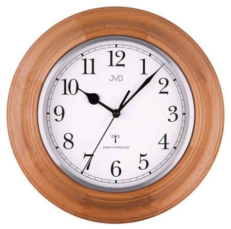 Zegar ścienny drewno STEROWANY RADIOWO NR27043.68