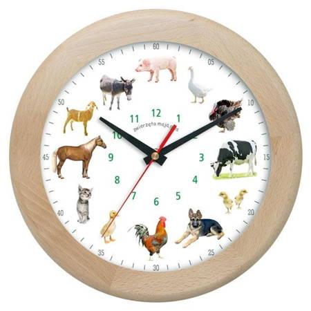 Zegar ścienny głosy zwierząt DREWNO ATW301ZW1 MH
