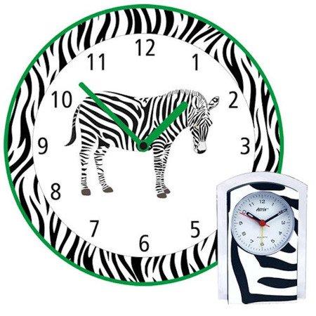 Zegar ścienny i budzik dziecięcy komplet KOMPL-Z2
