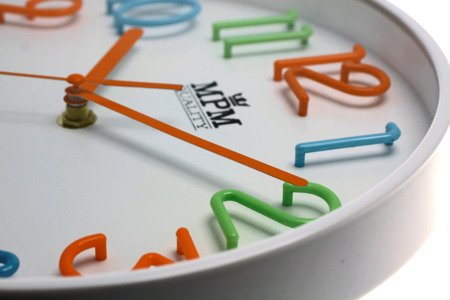 Zegar ścienny kolorowy efektowny czytelny E01.3224.00
