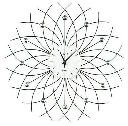 Zegar ścienny kryształki stal nowy design 59 cm HJ71