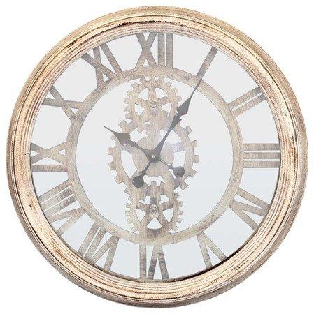 Zegar ścienny metalowy loft retro duży biały 82477