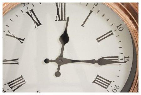 Zegar ścienny metalowy loft retro różowe złoto średni 103751