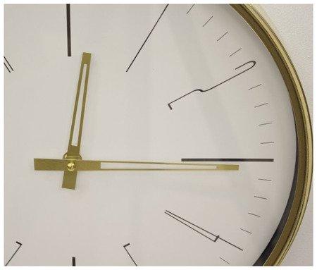 Zegar ścienny metalowy nowoczesny złoty elegancki  średni 103755
