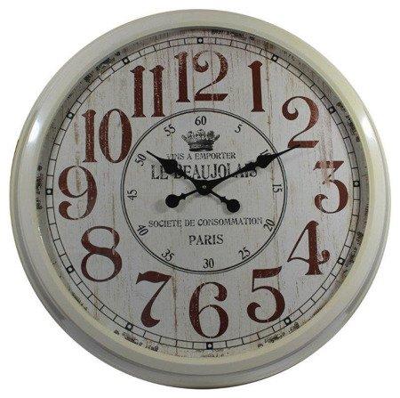 Zegar ścienny metalowy retro bardzo duży 80543