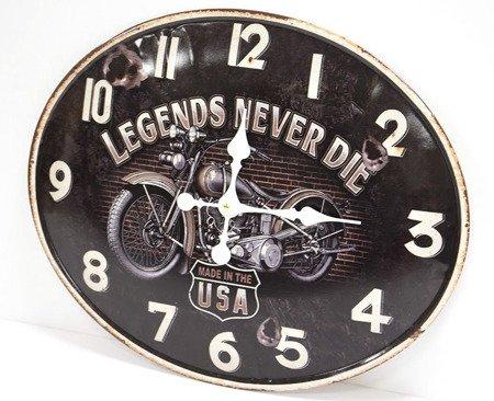 Zegar ścienny metalowy retro stylizowany na zardzewiały 100608