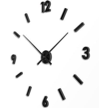 Zegar ścienny naklejany CZARNY 100 cm HS-668B