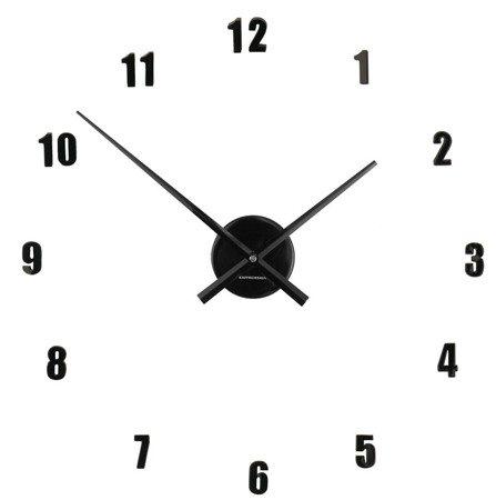 Zegar ścienny naklejany CZARNY 60 cm HS-138BK